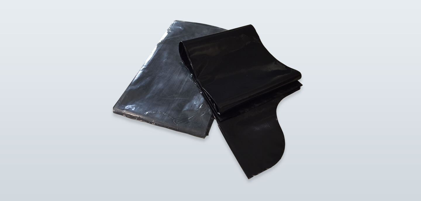 Folded S-shape garbage bag