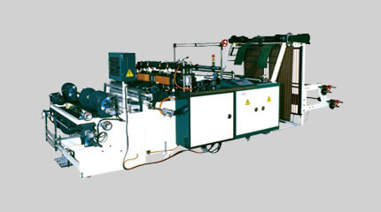 Semi-auto T-shirt bag on roll making machine (manual roll change)