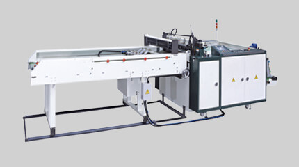 Tensionless thick gauge bottom seal bag making machine + Gripper folding system