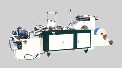 Economy bottom seal bag on roll making machine + Manual roll change system