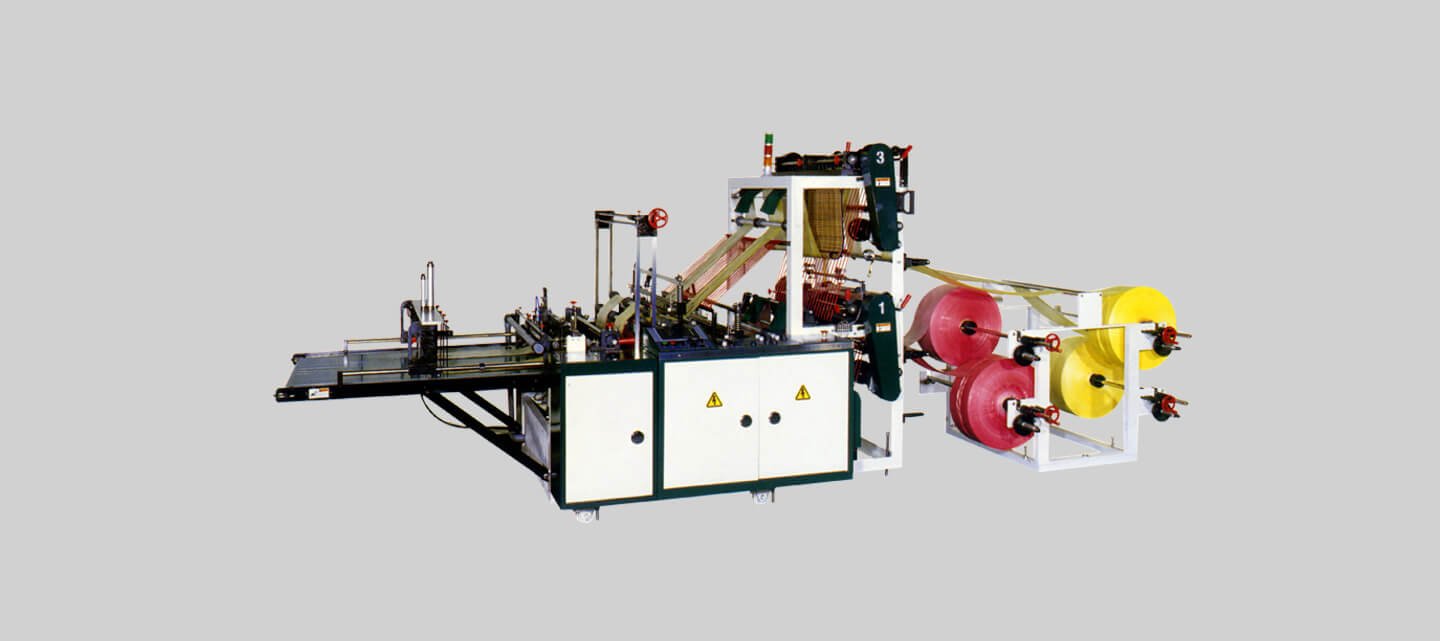 Double deck bottom seal bag making machine (4 lines)
