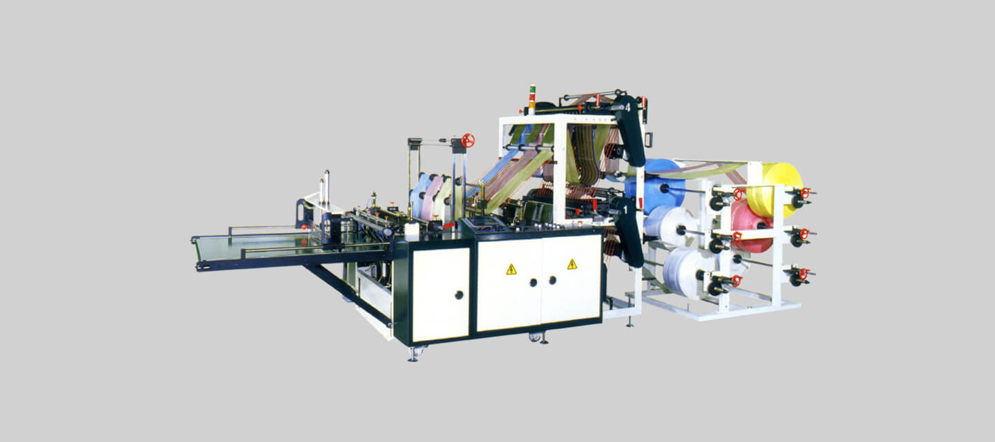 Double deck bottom seal bag making machine (6 lines)