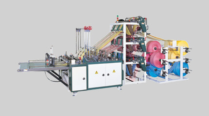 Triple deck bottom seal bag making machine (9 lines)