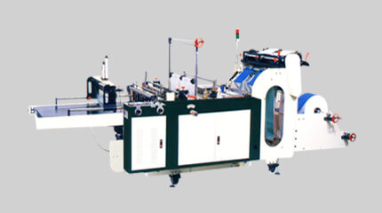 Multi-line bag making machine + heat-slitting system