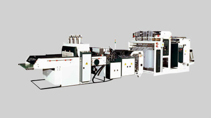 Heat-slitting high-speed T-shirt bag making machine (Hot-cut system)