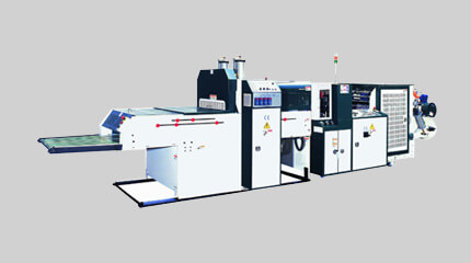 Twin-line high-speed T-shirt bag making machine (Hot-cut system) + Auto-packaging system