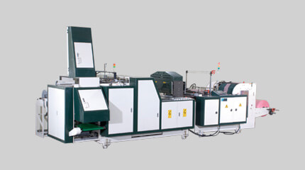 T-shirt bag making machine + bag folding system & Auto-packaging