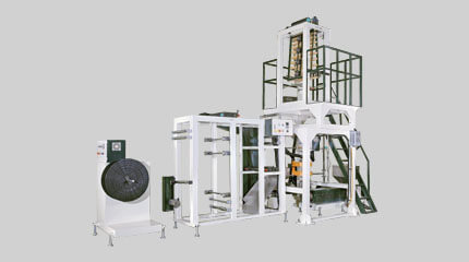 Twin die LDPE zipper film blown machine