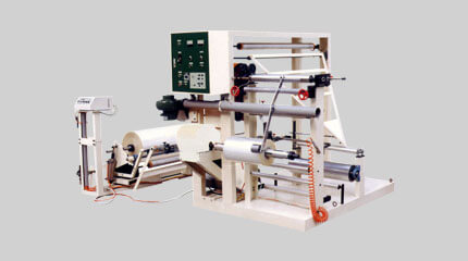 Triangle folding rewinding machine